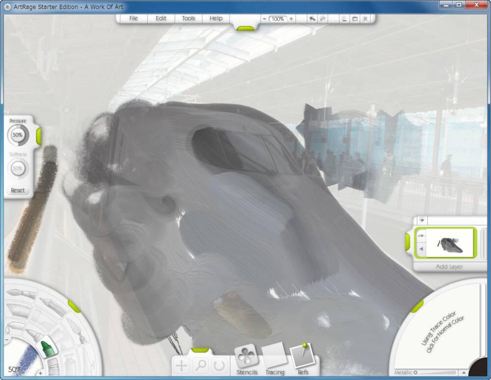塗り絵の様に下絵から作成出来る面白いお絵かきソフト Artrage2 多種な