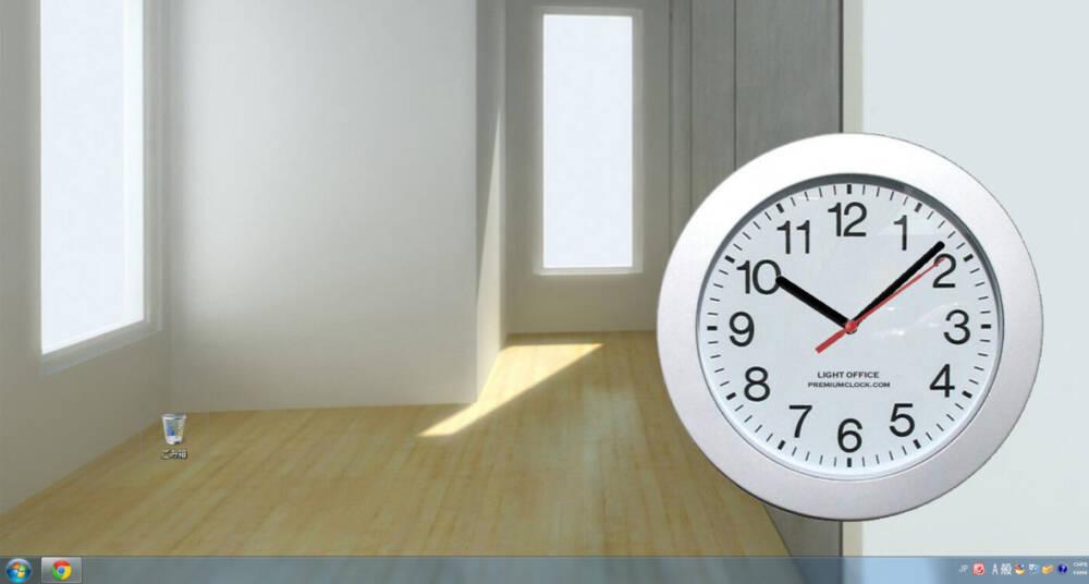 デスクトップに美しい時計を設置出来るフリーソフト Premiumclock 豊富なスキン搭載されています Pcあれこれ探索