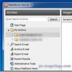 各種メールソフトやGmailなどからメールを一括バックアップする事が出来るフリーソフト MailStore Home