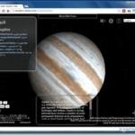 Chromeブラウザで宇宙探索が出来るChromeアプリ 『3D Solar System Web』 グリグリ動きます