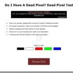 ディスプレイのドット欠けや色落ちなどをチェックできるネットサービス Do I Have A Dead Pixel?