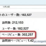 【Info】やった~!!ページビューが30万PV突破しました