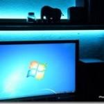 PC環境快適化!! モニター裏に間接照明を付けて目が楽になりました