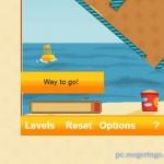 クルクル回して砂をバケツに入れていくゲーム!! 意外と難しいパズルゲーム 『Sand Trap』
