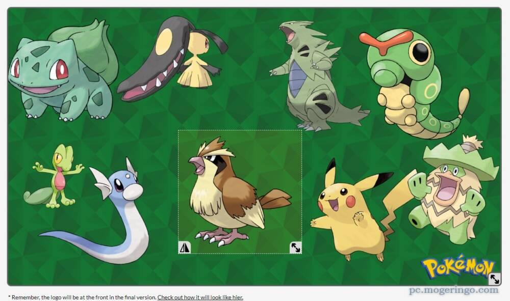 好きなポケモンを並べて壁紙が作れるwebサービス Pokemon Wallpaper